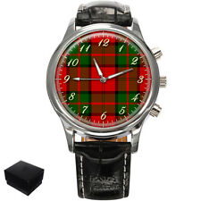 DUNBAR SCOTTISH CLAN TARTAN GENTS MENS WRIST WATCH GIFT ENGRAVING