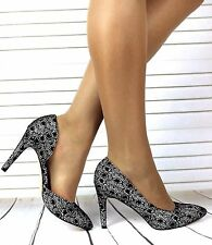 NEW WOMENS LADIES STILETTO HIGH HEEL HEELS POINTED TOE COURT SHOES SIZE 3-8