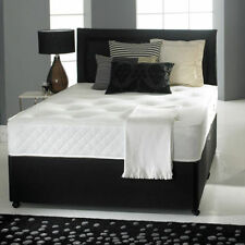 SUEDE MEMORY FOAM DIVAN BED WITH MATTRESS AND HEADBOARD 3FT 4FT6 Double 5FT