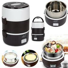 Electric 1.6L Portable Lunch Box Mini Rice Cooker Steamer 3 Layer StainlessSteel