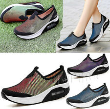 Ladies Gym Fitness Slip On Mesh Runing Trainers Shape Ups Toning Sport Shoes