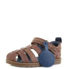 Kids Boys Infant Kickers Orin Sandal Leather Tan Brown Sandals UK Size