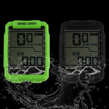 LCD Multifunction Road MTB Bike Bicycle Wired Waterproof Cycle Computer FQ