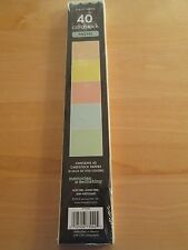 """NEW -   2 x 12"""" Cardstock Pastel / Borders 40 Sheets / Pastel (8 ea.of 5 colors)"""