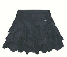 Hollister Womens Navy Blue Embroidered Eyelet Lace Mini Skirt Small