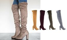 Delicious Over the Knee Thigh High Slouchy Boots #Snivy-s