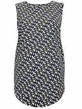 New Next Maternity Green Print Stretchy Sleeveless Top Size 12 14 16