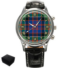 MACDONALD OF CLANRANALD SCOTTISH CLAN TARTAN MENS WRIST WATCH GIFT ENGRAVING
