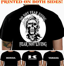 FEAR - HONDA KAWASAKI YAMAHA BIKER T-SHIRT MOTORCYCLE CLOTHING SKULL T SHIRT 102