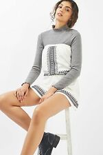 TOPSHOP *Cream Embroidered Jersey Bandeau Playsuit* SIZE_UK6_8_10_12_14_16