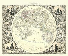 100, 500, 1000 Piece Jigsaw Puzzle Map of The Eastern Hemisphere 1851