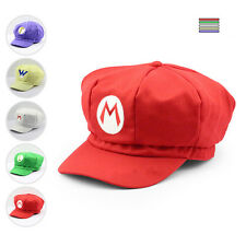 Luigi Super Mario Bros Cosplay Adult Size Hat Cap Baseball Costume UW04