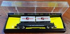 VINTAGE BACHMANN 'N' SCALE FLAT CAR WITH TRAILERS