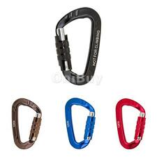 12KN D Carabiner Screw Lock Backpack Hook Buckle Keychain for Camping Hiking