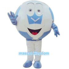 New Halloween Fancy Party Dress Adult Outfit Blue football Soccer Mascot Costume