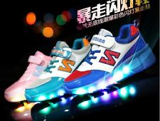 KIDS & ADULTS SHOES with Retractable Roller Skates & LED Lights