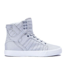 Men's Supra Skytop Chad Muska Canvas Light Grey/White Sizes 8-12 NIB 08002-013