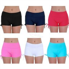 Women's Swim Briefs Mini Boardshorts Swimwear Beach Shorts With Adjustable Ties