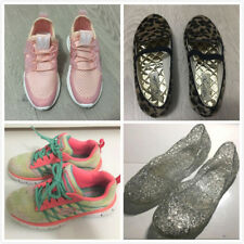 Girls Skechers Sneakers Crocs Rain Boots Clog Shining Sparkly Jelly Flats 4-6Y