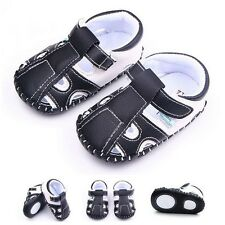 Baby Casual PU Leather Sandals Infant Boys Summer Soft Sole Crib Shoes Prewalker