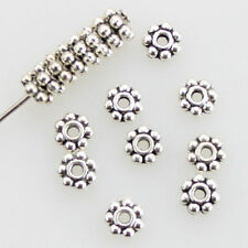 Lots Tibetan Silver Daisy Flower Shaped Spacer Beads Jewelry Making DIY 4mm/6mm