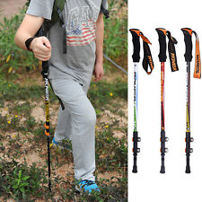 Adjustable Anti-Shock Cane Pole Hiking Walking Trekking Stick Crutches New