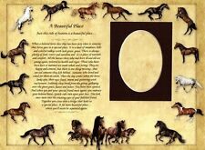 """Pet Memorial Poem """"A Beautiful Place"""" with 3x5 Photo Frame for Horses Dogs Cats"""