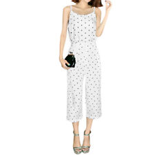 Women Dots Prints Cami w Wide Leg Capris Pants Sets