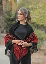 Embroidered Scarf Jordanian Palestinian Wrap Shawl Scarf Bedouin