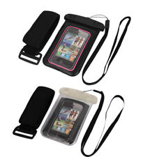 "Underwater Waterproof Case Dry Bag Cover Pouch + Armband for 4"" Cell Phone"
