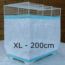 Bird cage tidy seed catcher guard pile fabric double strap White XL 200cm
