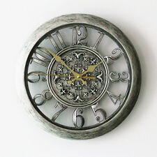 Wall Clock European Creative Fashion Retro Watch Crafts Clocks Home Decor 11""