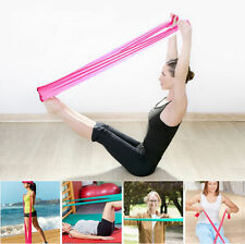 Hot1.2 m Elastic Yoga Pilates Rubber Stretch Resistance Exercise Fitness Band FS