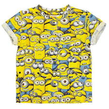 BOYS KIDS CHILDRENS DESPICABLE ME MINIONS YELLOW SHORT SLEEVE T-SHIRT SHIRT TOP