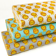 Japanese Fabric Oxford Cotton Fabric Cartoon Lion From Japan by 1/2 yard