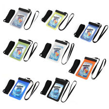 "Waterproof Case Cover Bag Dry Pouch w Armband Strap for 5.5"" Mobile Phone"
