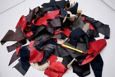 Assorted lambskin SMALL leather scrap pieces/off-cuts for crafts