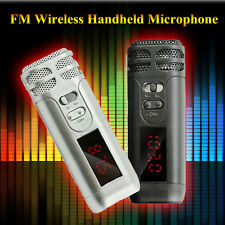Professional FM Wireless Dynamic Handheld Microphone Condenser Mic Black Silver