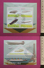 Flying ZEPPELINS Stamps 2015 Congo perf. 4 value Sheetlet CTO Excellent NH UK