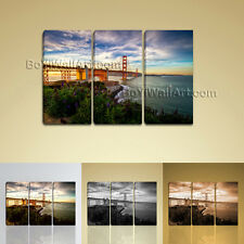 San Francisco Golden Bridge Cityscape Print Canvas Wall Art Abstract Landscape