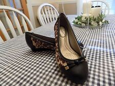 """Life Stride """"Future"""" Soft System Animal Print Pumps Wedges Shoes Women's"""
