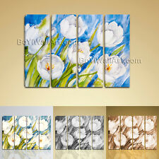 Large Abstract Floral Painting HD Print on Canvas Contemporary Wall Art Decor