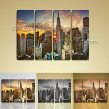 Large Framed Wall Art New York City Landscape Sunset Picture Print On Canvas