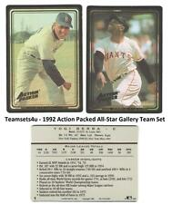 1992 Action Packed All-Star Gallery Baseball Set ** Pick Your Team **