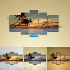 Extra Large Wall Art Print Canvas Contemporary Sunset Palm Tree Landscape Hawaii