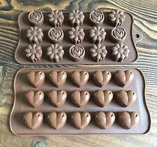 ~SILICONE TRAY MOULDS (4 INDIVIDUAL MINI TART/MELT MAKING)~ASSORTED~YOU CHOOSE!!