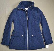 NWT WOMEN MICHAEL KORS NAVY QUILTED OUTERWEAR COAT JACKET SZ SMALL