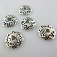 60/500pcs Tibetan Silver 12mm Charms Flower Bead Caps Jewelry Making Beading