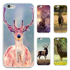 Cute Deer Pattern Case Cover for iPhone 5/6/6S/6 7Plus Samsung Galaxy Perfect
