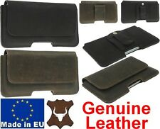 PIANO RUSTIC STYLE GENUINE LEATHER BELT MOUNTED POUCH COVER FOR MOBILE PHONES